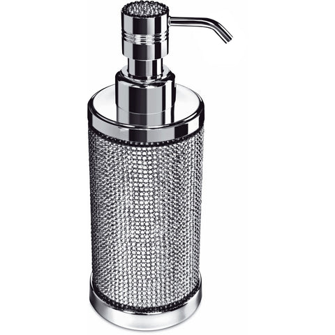 Starlight Round Table Soap Dispenser W/ Swarovski Crystals - AGM Home Store LLC
