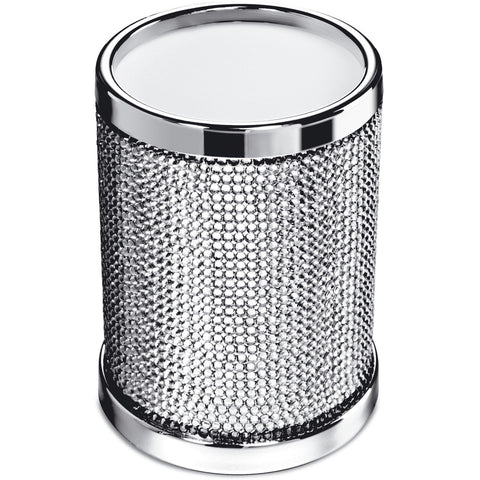 Starlight Round Toothbrush Holder W/ Swarovski Crystals - AGM Home Store LLC