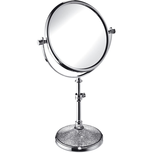 Starlight Table 5x Magnifying Adjustable Mirror W/ Swarovski - AGM Home Store LLC