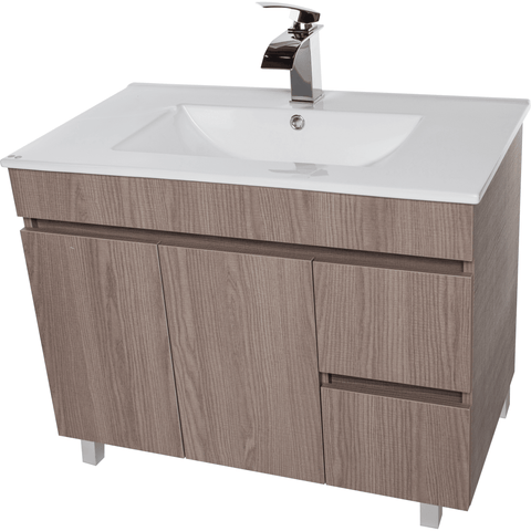 "Zeus 40"" Standing Bathroom Vanity Cabinet Set Bath Furniture With Single Sink Estepa/ White/ Wenge - AGM Home Store LLC"