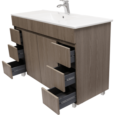 "Zeus 48"" Standing Bathroom Vanity Cabinet Set Bath Furniture With Single Sink Estepa/ White - AGM Home Store LLC"