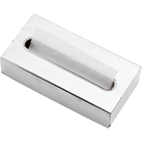 DI Tissue Box Holder Cover Tray Dispenser Tissue Case - Brass Polished Chrome