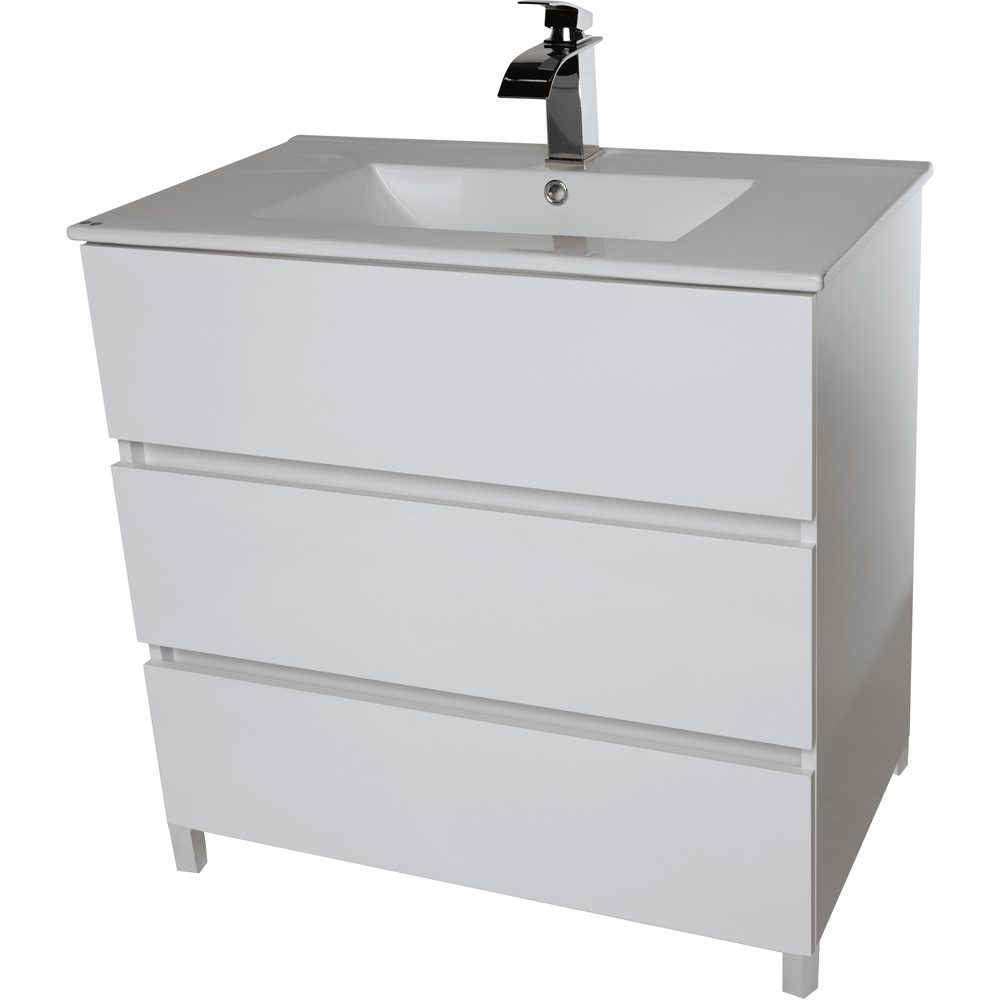 "Samba 32"" Standing Bathroom Vanity Cabinet Set Bath Furniture With Single Sink Estepa/ White/ Wenge - AGM Home Store LLC"