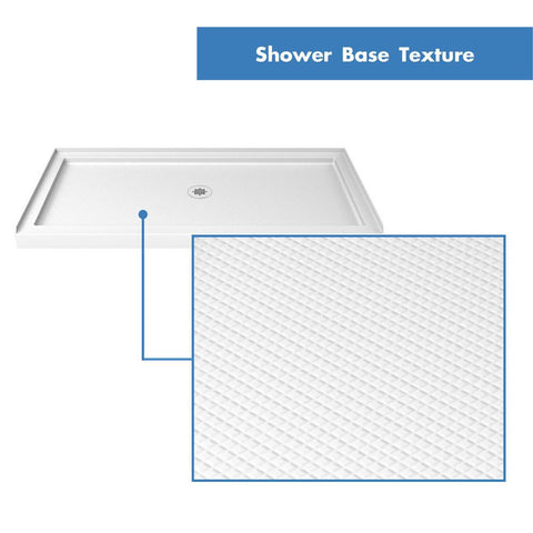 SlimLine 34 in. D x 42 in. W x 2 3/4 in. H Center Drain Single Threshold Shower Base in White - AGM Home Store LLC
