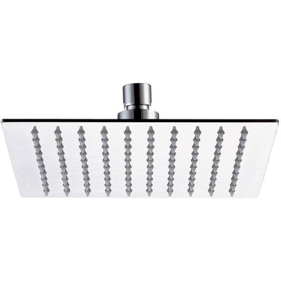 DI Stainless Steel Rain Shower Head Square Swivel Rainfall Showerhead, Chrome - AGM Home Store LLC