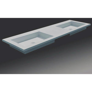 Ideavit Solidtech 59 in. Vanity With 2 Rectangular Basin - Double Sink - AGM Home Store LLC