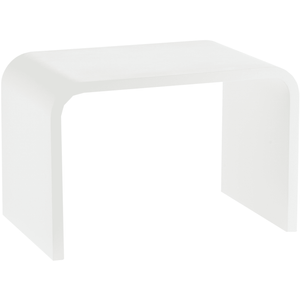 DWBA Stone Solid Surface Foot Rest Stool Seat Chair Step Stool (White) - AGM Home Store LLC
