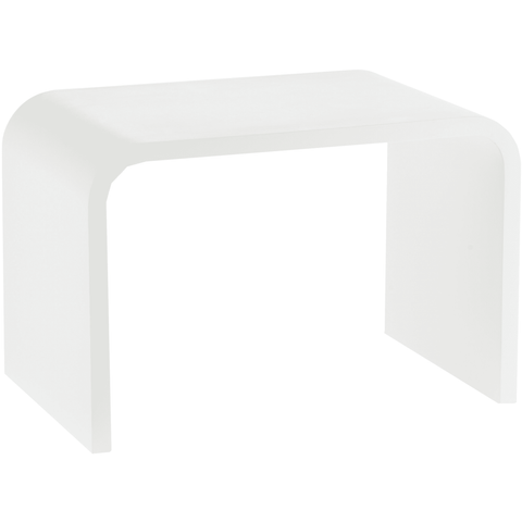 STONE SCH Stone Solid Surface Foot Rest Stool Seat Chair Step Stool (White) - AGM Home Store LLC