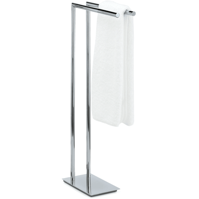 DWBA Standing Towel Rack Stand Bar Towel Holder 2-tier Double Bar Holder, Chrome / Satin Nickel - AGM Home Store LLC