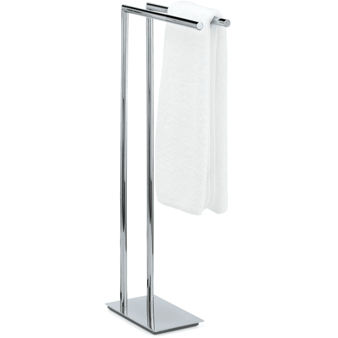 Straight 2 Standing Towel Rack Stand Bar Towel Holder 2-tier Double Bar Holder, Chrome / Satin Nickel - AGM Home Store LLC