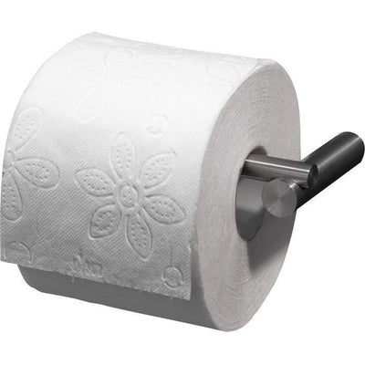 PSBA Wall Toilet Paper Holder W/ Hinged Bar Tissue Roll Dispenser, Steel Matte - AGM Home Store LLC