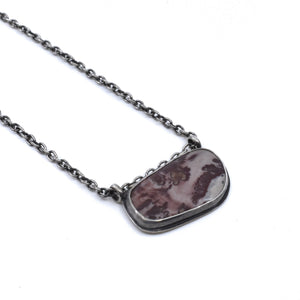 Picasso Jasper Necklace - Pendant with Chain - .925 Sterling Silver Pendant - OOAK