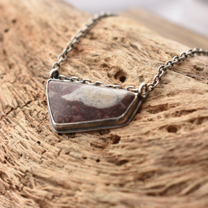 Jasper Necklace - Pendant with Chain - .925 Sterling Silver Pendant - OOAK