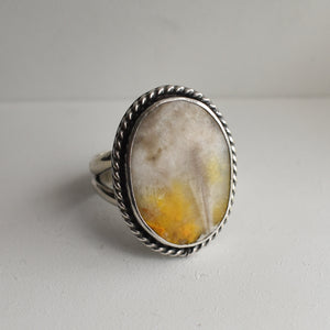 Boho Ring in Bumble Bee Jasper - Bumble Bee Jasper Ring - Silversmith Ring