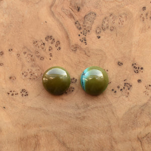 Traditional Turquoise Posts - American Turquoise Earrings - Turquoise Studs - Silversmith