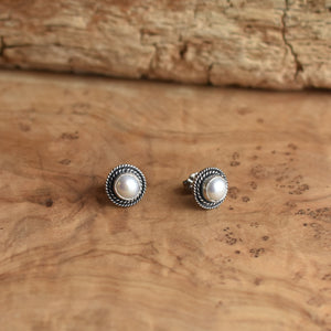 Freshwater Pearl Posts - Western Pearl Posts - Boho Pearl Posts - Silversmith Earrings