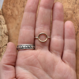 The Balance Ring - Mixed Metal Ring - 14 KT Solid Gold Ring
