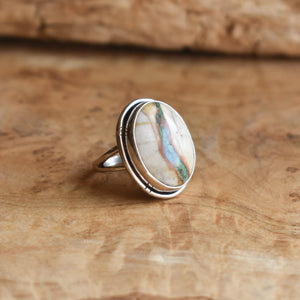 Royston Ribbon Boho Ring - OOAK Royston Ring - Royston Ribbon Turquoise Ring