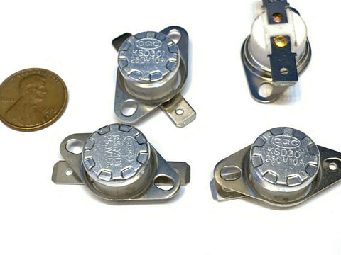 4 Pieces N/C 240ºC 464ºF normally closed Thermal  Thermostat switch KSD301 A20