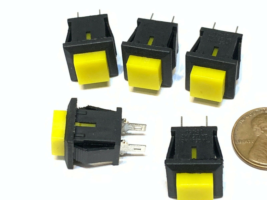 5 Pieces square Yellow DS-430 push button switch momentary normally open no B28