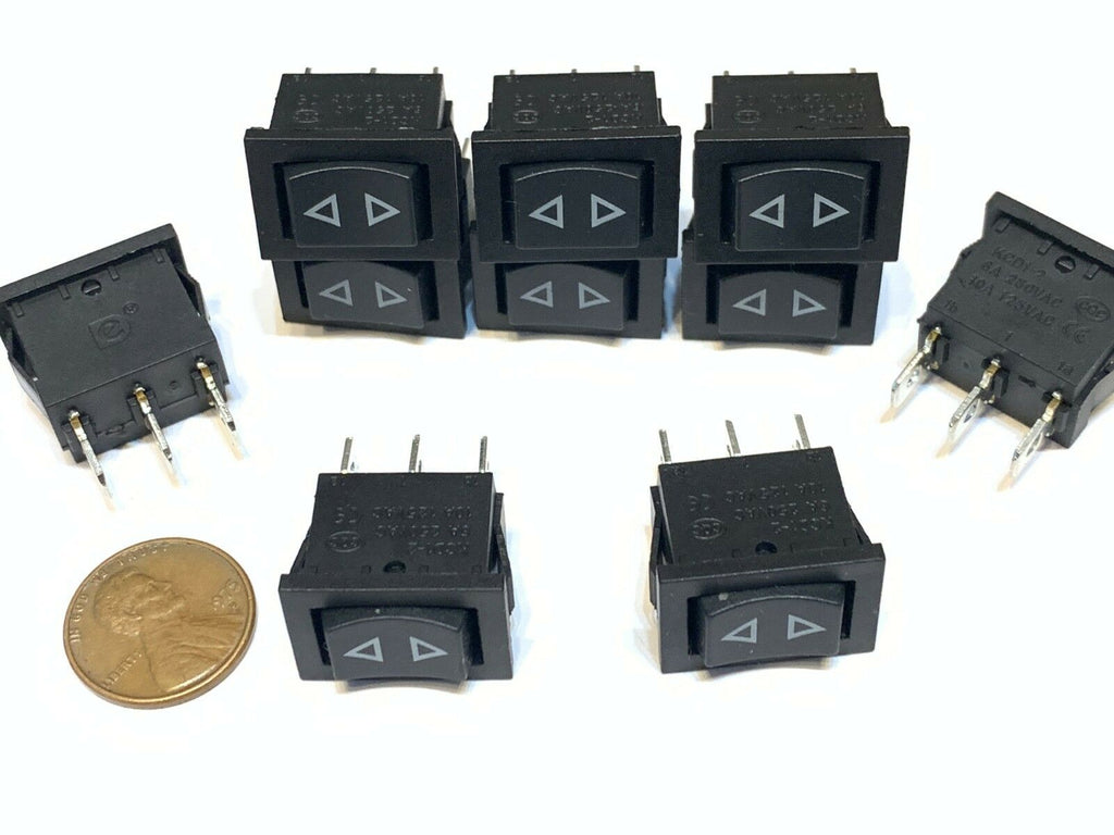 10 Pieces Black Rocker Switch Momentary ON OFF ON spring On Off 3 Pin spst B27