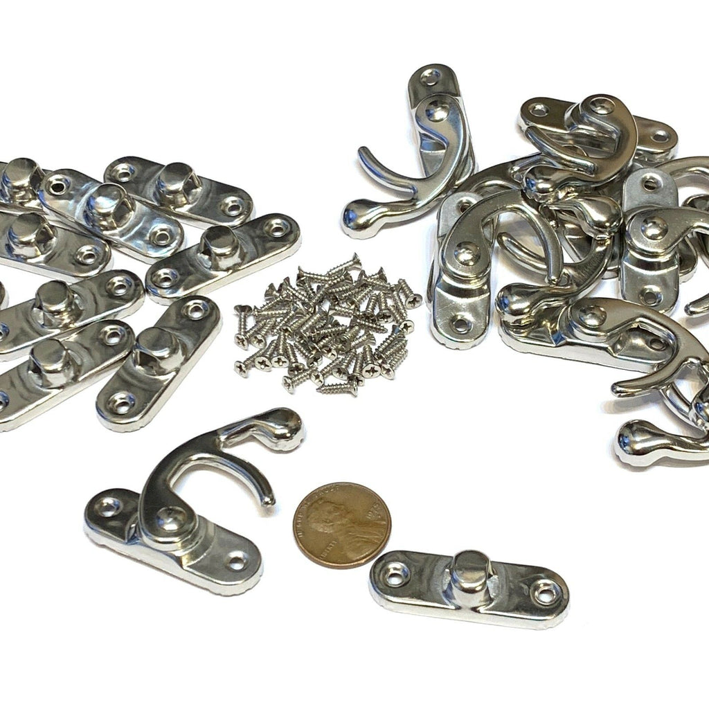 10 Set Large BXR Brand mini latch Silver Metal Hook screw Latches Clasp Lock c10