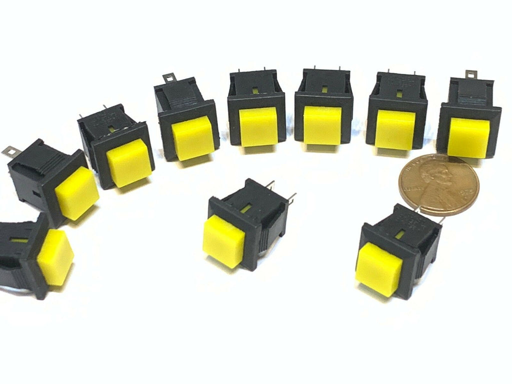 10 Pieces square Yellow DS-430 push button switch momentary normally open no B28