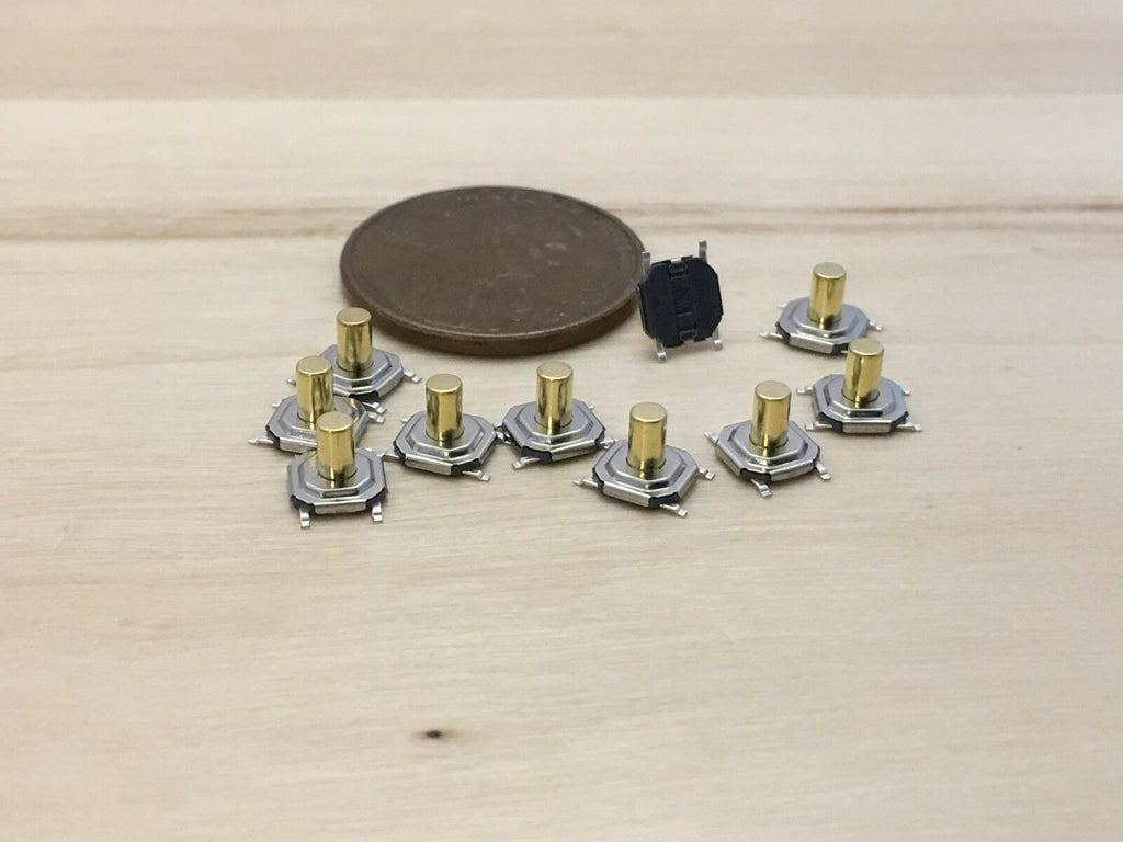 10 Pieces  5.2 x 5.2 x 4.3mm Tactile Tact Push Button Micro Switch Momentary C23