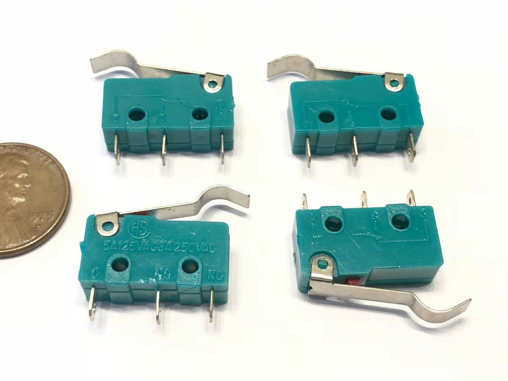 4 Pieces Green hump N/C N/O normally Micro Limit Switch Lever 125v 3a amp 5A c37