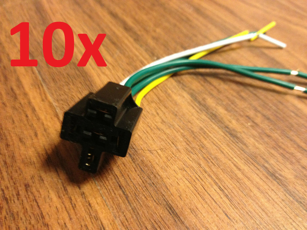 10x 4 Pin DC 12V Automotive Car Wiring Harness Relay Socket 40a 30a  Pin Harness on