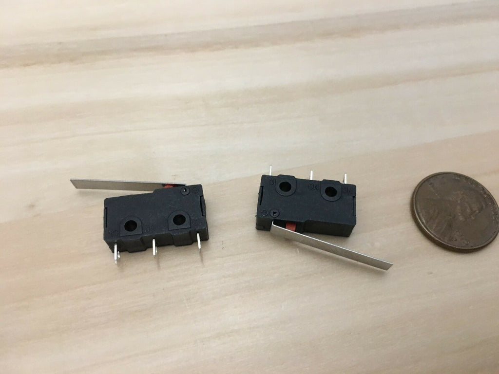 2 Pieces - long lever (25mm) 5a n/c n/o limit switch KW12-C kw12 micro C23