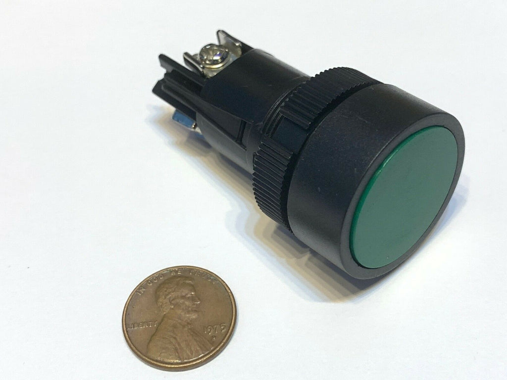 1 Piece Green Momentary PUSH BUTTON SWITCH normally open closed 22mm on off A11