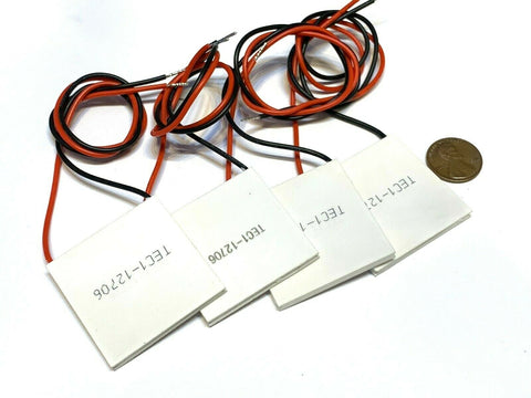 4 Pieces TEC1-12706 Heatsink Thermoelectric Cooler Cooling Peltier 12V 60W B5
