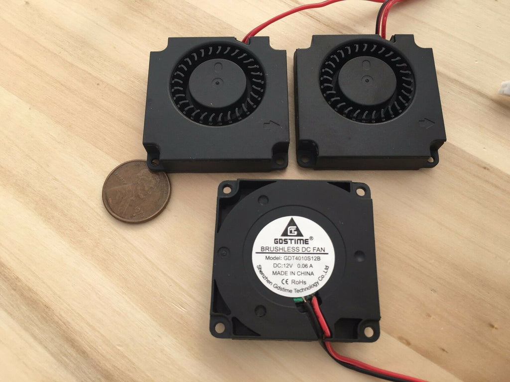 3 Pieces 4010s Gdstime Centrifugal dc 40mm 12V computer blower Fan brushless C4