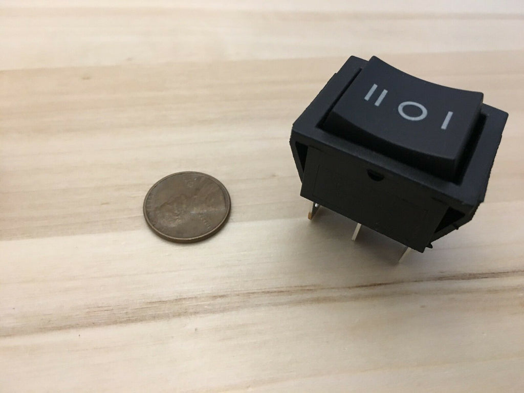 1 Piece Black Rocker switch (on) off (on) 20a amp momentary 6 pin C33