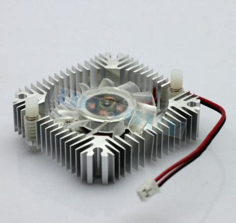 1 PCS 55mm 2PIN Aluminum Snowhite Cooling Fan Heatsink Cooler  VGA CPU FS006 B7