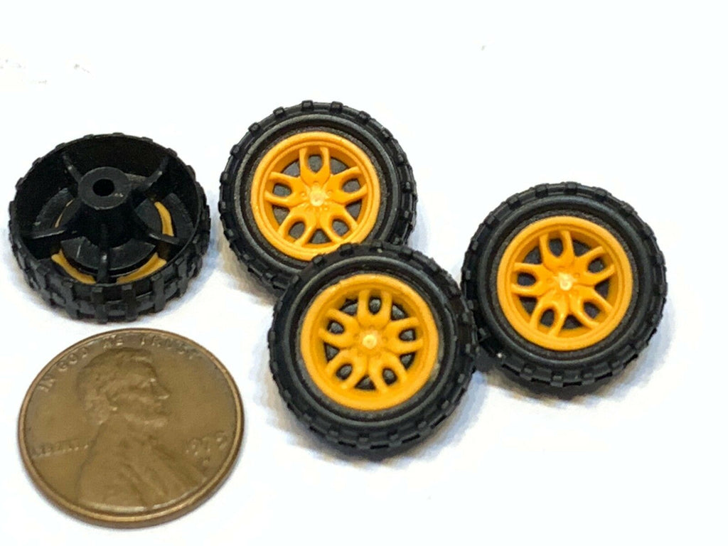 4 Pieces mini small toy 18MM Diameter 2mm shaft Car Robot Tire Wheel DC 4pcs B27