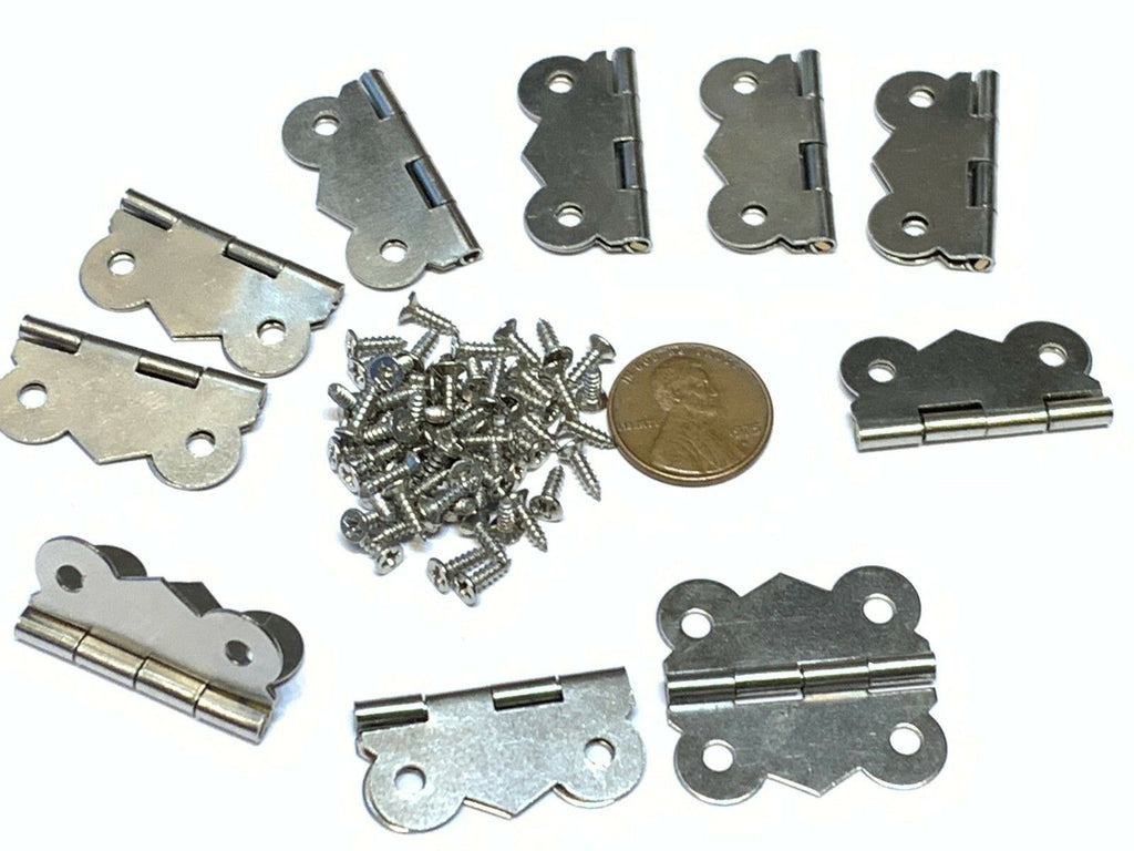 10 Pieces Silver 30mm butterfly butt style small hardware Cabinet Draw B28