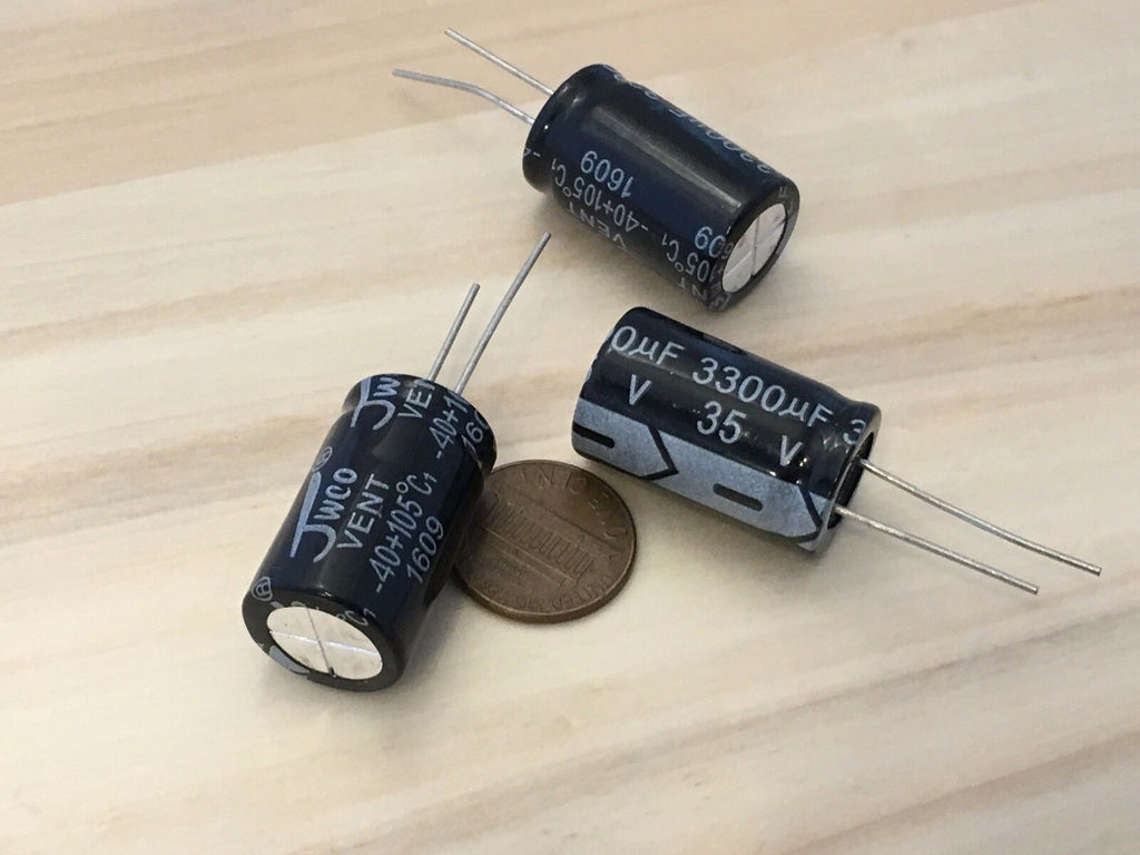 3 Pieces 3300uF 35V 16X26mm Electrolytic Capacitor Aluminum Radial C32