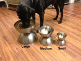 medium neo bowl   Elevated Raised Dog Feeder Stainless Steel cat lab dish bowls