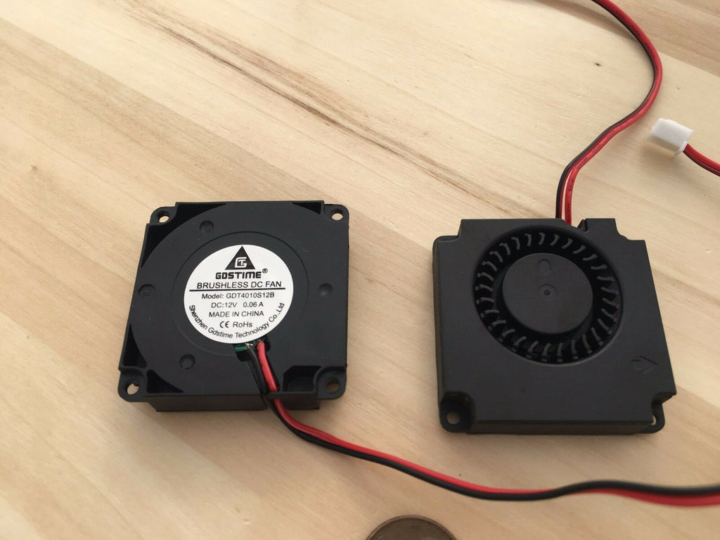 2 Pieces 4010s Gdstime Centrifugal dc 40mm 12V computer blower Fan brushless C4
