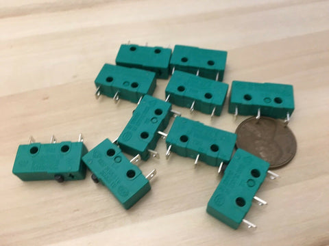 10 Pieces ( NO lever ) Green kw4-3z-3 N/C N/O normally Micro Limit Switch 5A C26