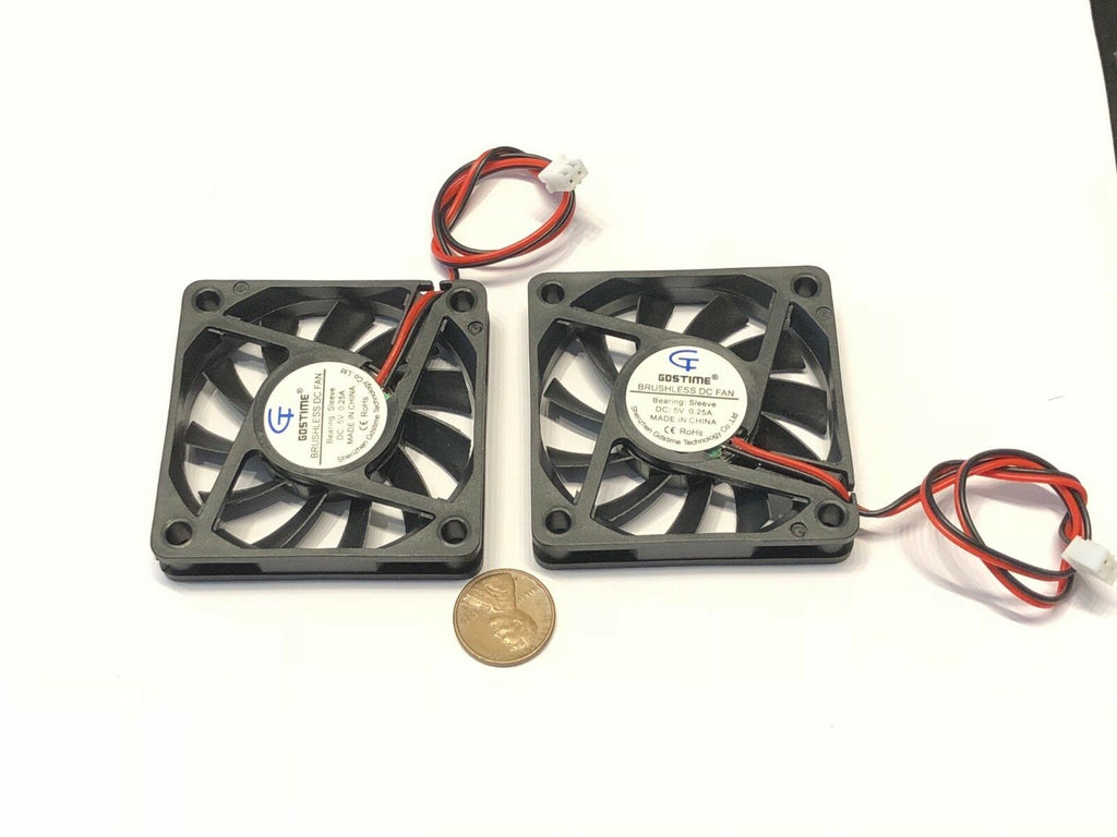 2 Pieces 6010 Gdstime Fan 5v 60mm 6cm Cooling Ventilation Axial Cooler C32
