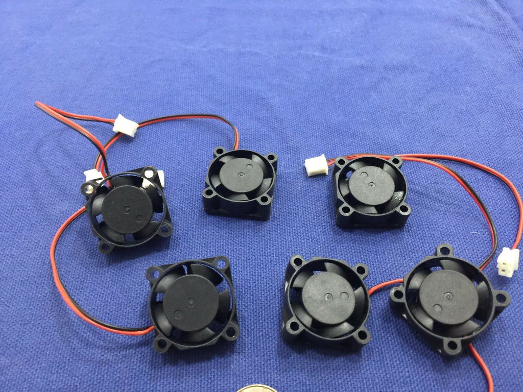 6 Pieces BXR 25mm x 25 x 10 Brushless Cooling Fan small micro Flow CFM 12V c11