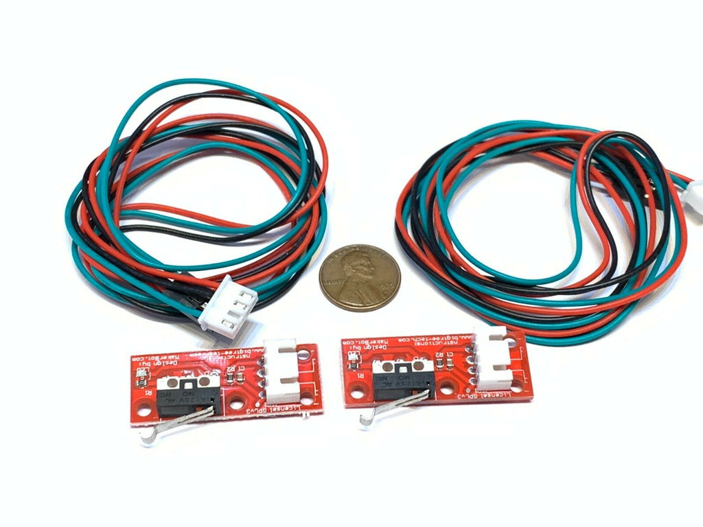 2 Pieces Endstop 3d printer flashforge cnc RAMPS 1.4 Micro Limit Switch Lever A6