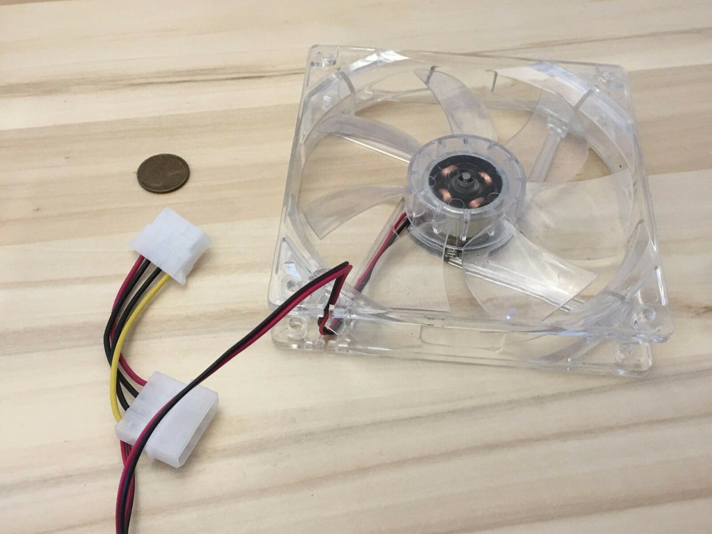 12V 4Pin 120mm Computer Cooler PC CPU Cooling Fan 4 Blue LED Light Clear C19