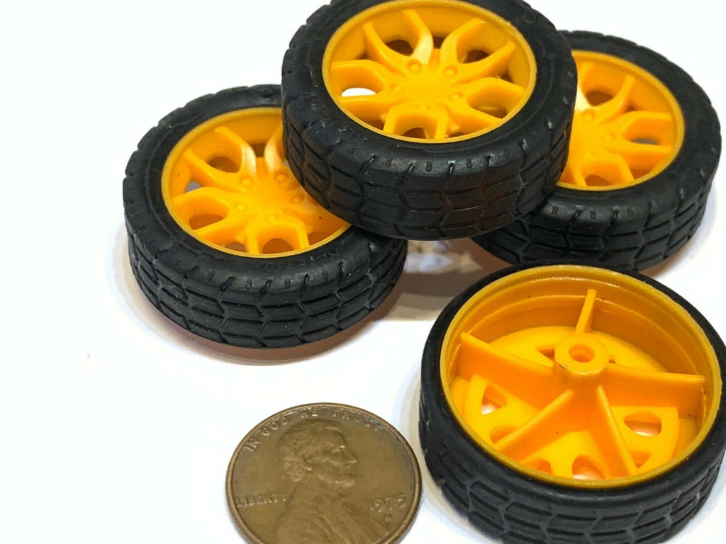 4 Pieces  - Small toy 30MM Diameter 2mm shaft Car Robot Tire Wheel DC 4pcs C20