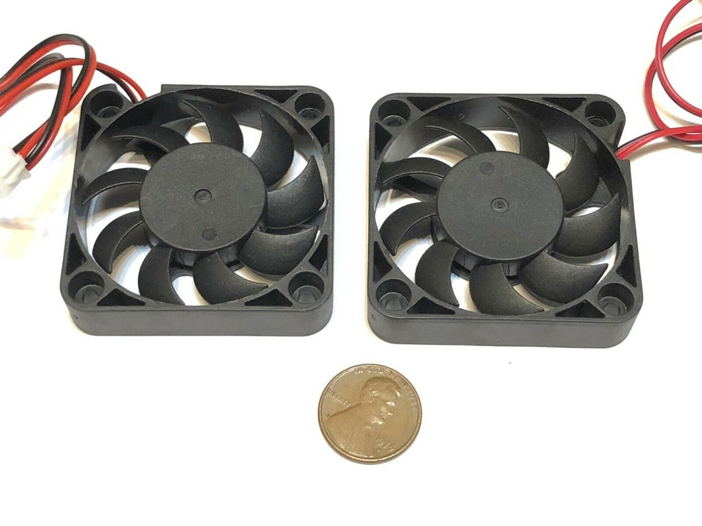 2 Pieces 12V 5010 2 Pin Computer fan 50MM 5CM pc cooling cool Replacement A5