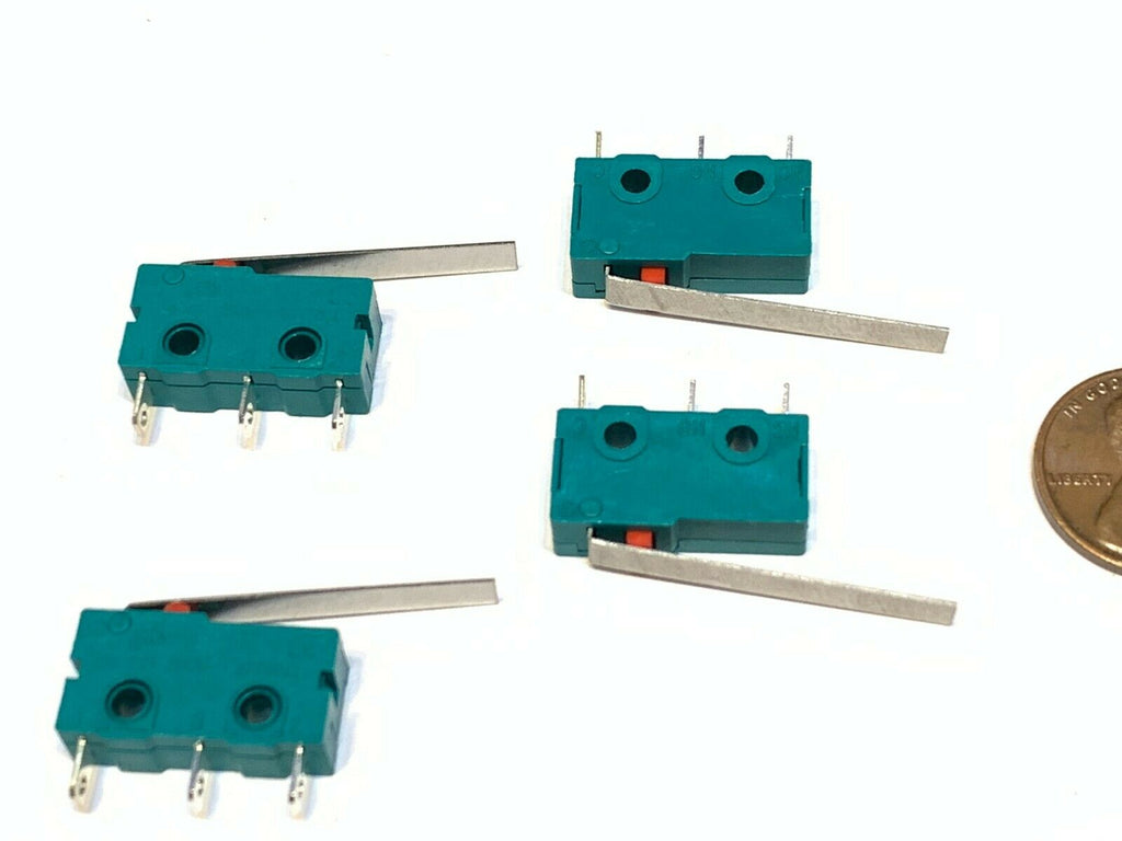 4 Green limit switch long lever normally open or closed Straight Hinge SPDT A26