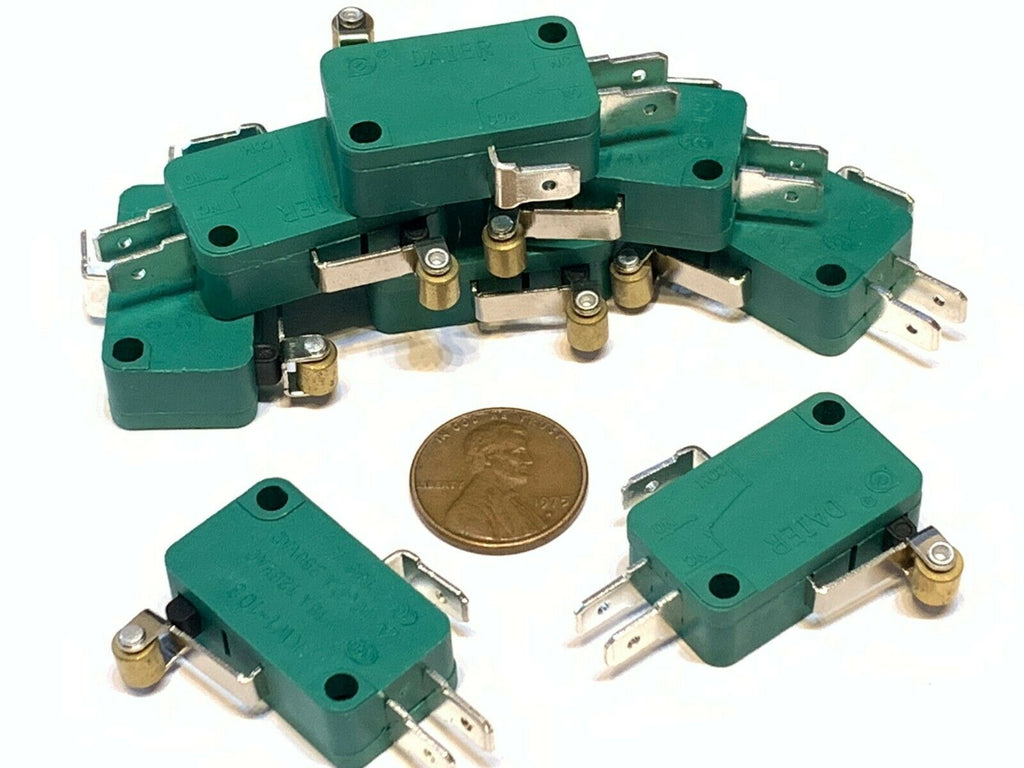 8 Pieces Green kw1-103 limit switch roller SPDT Snap Action LOT bulk  NC NO A13
